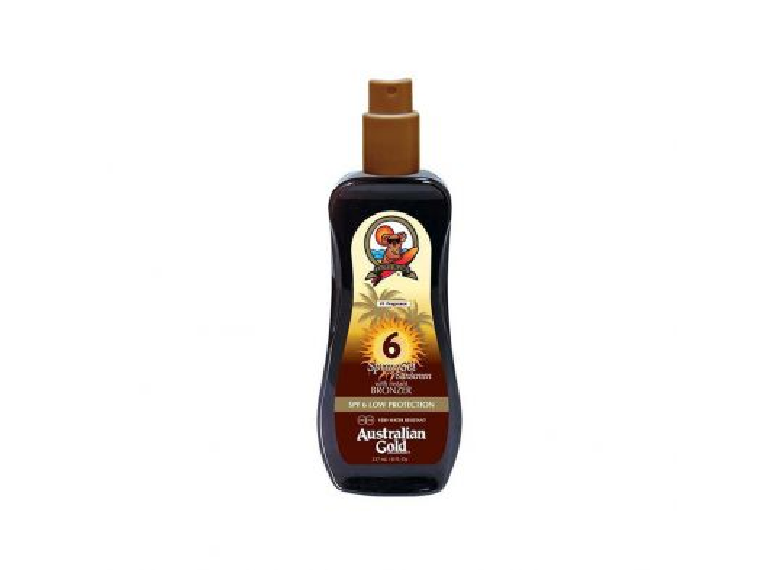 Spray Gel  Sunscreen SPF6 con Instant Bronzer