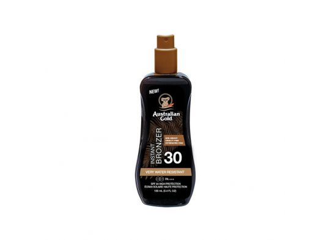 Spray Gel Sunscreen SPF30 con Instant Bronzer Travel Size